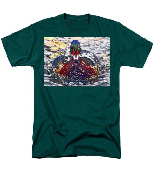 Straight Ahead Wood Duck Men's T-Shirt  (Regular Fit) by Jean Noren