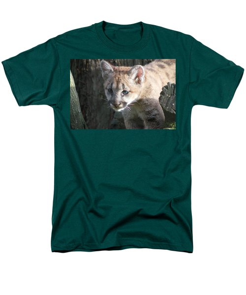 Men's T-Shirt  (Regular Fit) featuring the photograph Studying The Ways by Laddie Halupa