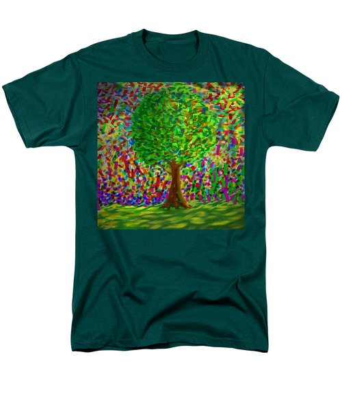 Men's T-Shirt  (Regular Fit) featuring the painting Sunny Tree by Kevin Caudill