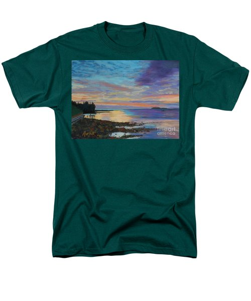 Sunrise On Tancook Island  Men's T-Shirt  (Regular Fit) by Rae  Smith PAC