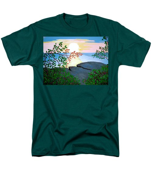 Men's T-Shirt  (Regular Fit) featuring the painting Sunset In Jamaica by Stephanie Moore