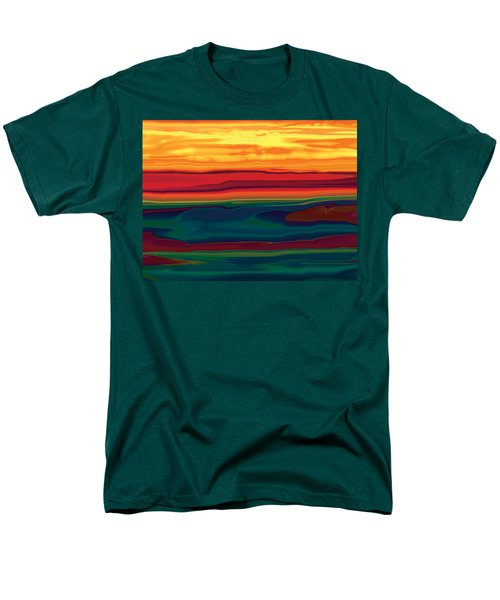 Men's T-Shirt  (Regular Fit) featuring the digital art Sunset In Ottawa Valley by Rabi Khan