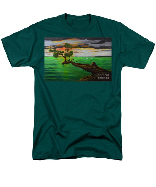 Men's T-Shirt  (Regular Fit) featuring the painting Sunsetting by Melvin Turner