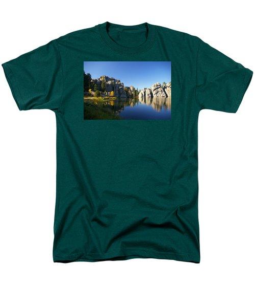 Sylvan Lake, Custer South Dakota Men's T-Shirt  (Regular Fit) by Karen Cade