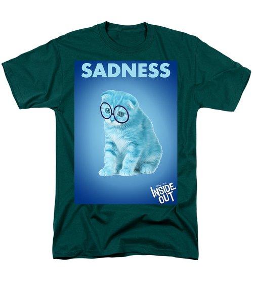 The Cat Sadness Men's T-Shirt  (Regular Fit) by Sheila Mcdonald