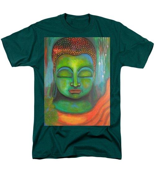 The Green Buddha Men's T-Shirt  (Regular Fit) by Prerna Poojara