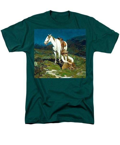 Men's T-Shirt  (Regular Fit) featuring the painting The Night Hawk by Pg Reproductions