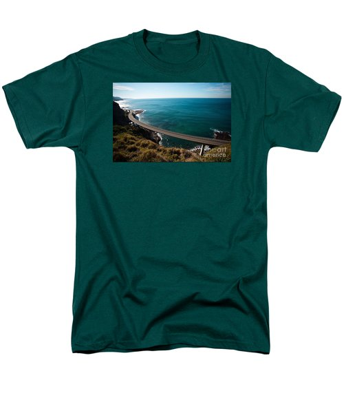 The Road Above The Sea Men's T-Shirt  (Regular Fit) by Bev Conover