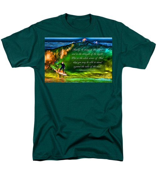 Men's T-Shirt  (Regular Fit) featuring the photograph The Shadow Within With Bible Verse by John A Rodriguez