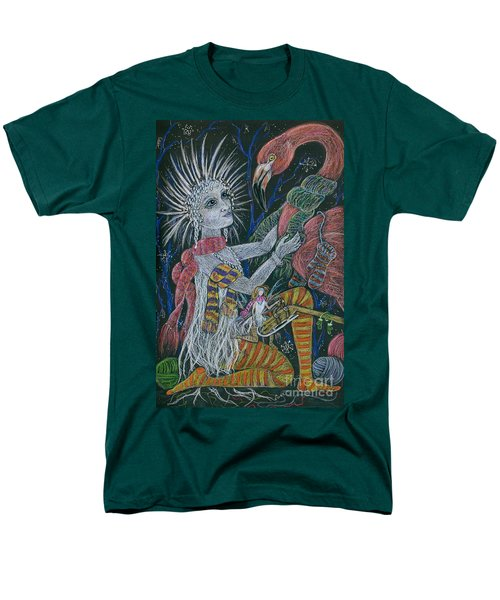 Men's T-Shirt  (Regular Fit) featuring the drawing The Snow Queen by Dawn Fairies