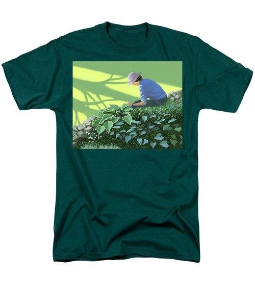 The Solace Of The Shade Garden Men's T-Shirt  (Regular Fit) by Gary Giacomelli