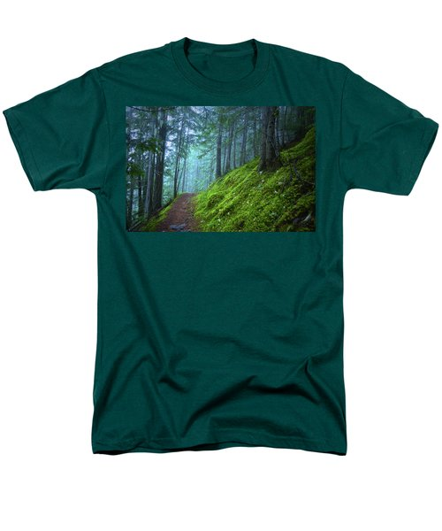Men's T-Shirt  (Regular Fit) featuring the photograph There Is Light In This Forest by Tara Turner