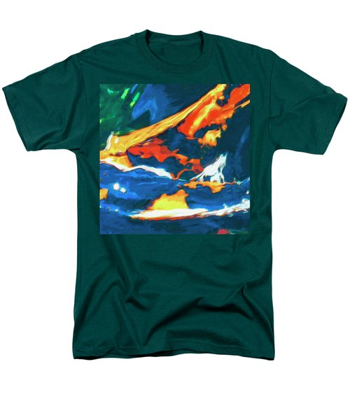 Men's T-Shirt  (Regular Fit) featuring the painting Tidal Forces by Dominic Piperata