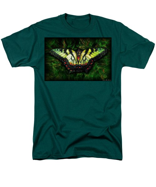 Men's T-Shirt  (Regular Fit) featuring the photograph Tiger Swallowtail by Iowan Stone-Flowers