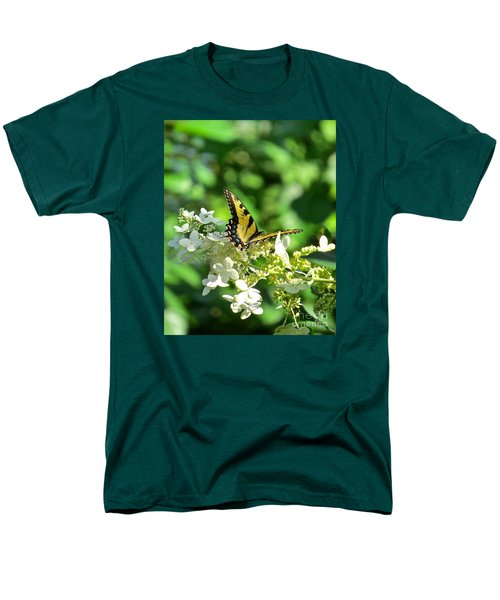 Men's T-Shirt  (Regular Fit) featuring the photograph Tiger Swallowtail  by Nancy Patterson