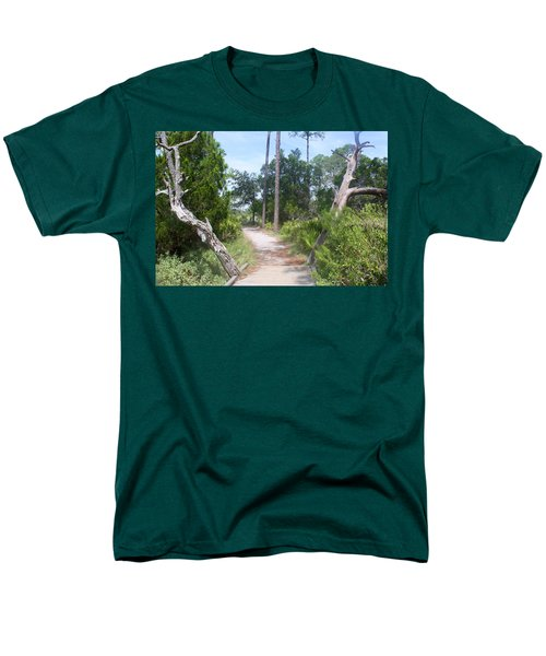Men's T-Shirt  (Regular Fit) featuring the photograph Trail On Hunting Island by Ellen Tully