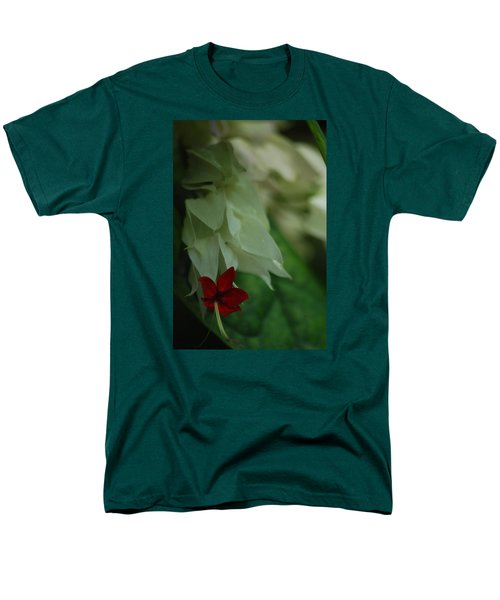 Men's T-Shirt  (Regular Fit) featuring the photograph Tropical Bleeding Heart by Ramona Whiteaker