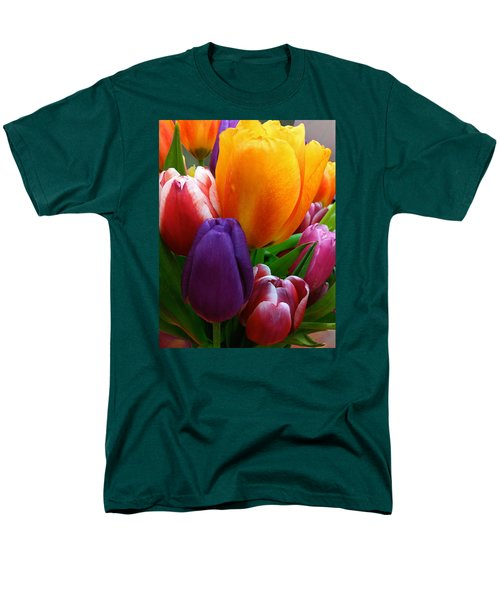 Men's T-Shirt  (Regular Fit) featuring the photograph Tulips Smiling by Marie Hicks