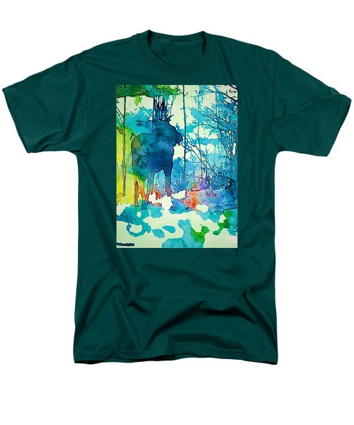 Turquoise Moose Men's T-Shirt  (Regular Fit) by Jan Amiss Photography