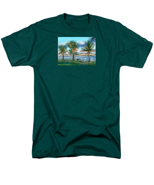Men's T-Shirt  (Regular Fit) featuring the digital art Twilight On Saw Fish Bay by Jean Pacheco Ravinski