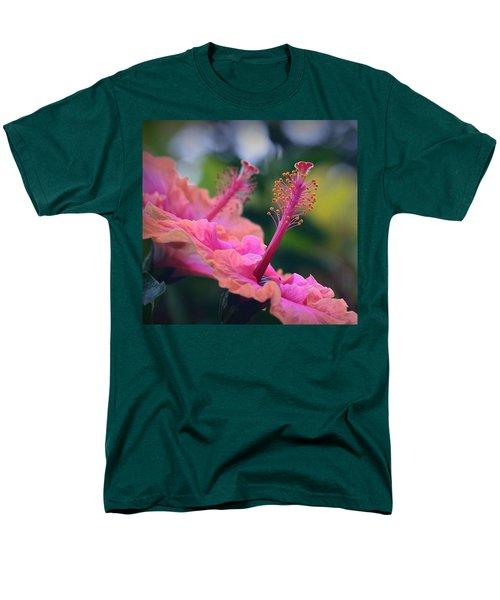 Two Hibiscus Men's T-Shirt  (Regular Fit) by Lori Seaman