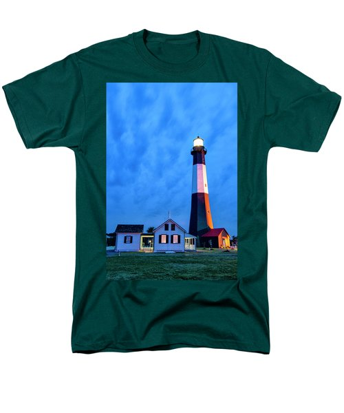 Tybee Island Lighthouse Men's T-Shirt  (Regular Fit) by Phyllis Peterson