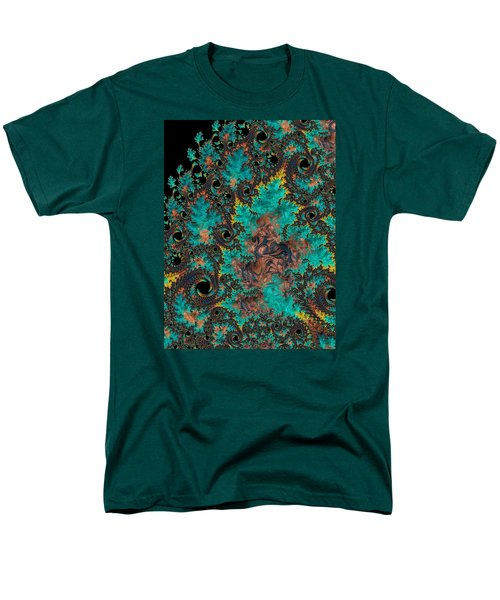 Men's T-Shirt  (Regular Fit) featuring the photograph Verdigris And Rust by Ronda Broatch
