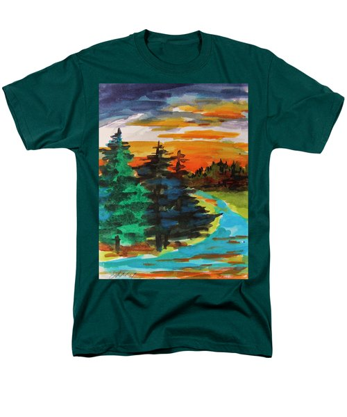 Men's T-Shirt  (Regular Fit) featuring the painting Very Quiet by John Williams