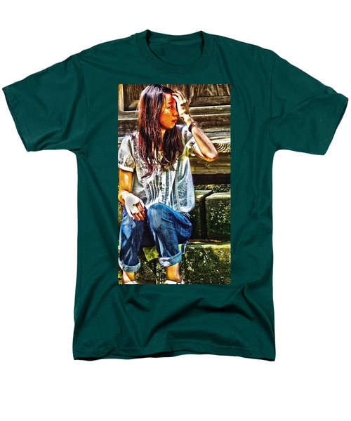 Men's T-Shirt  (Regular Fit) featuring the digital art Waitng For You by Tim Ernst