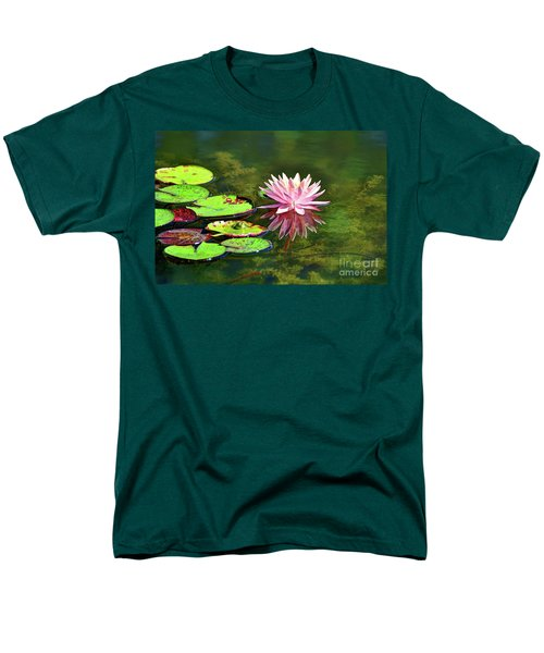 Water Lily And Frog Men's T-Shirt  (Regular Fit) by Savannah Gibbs