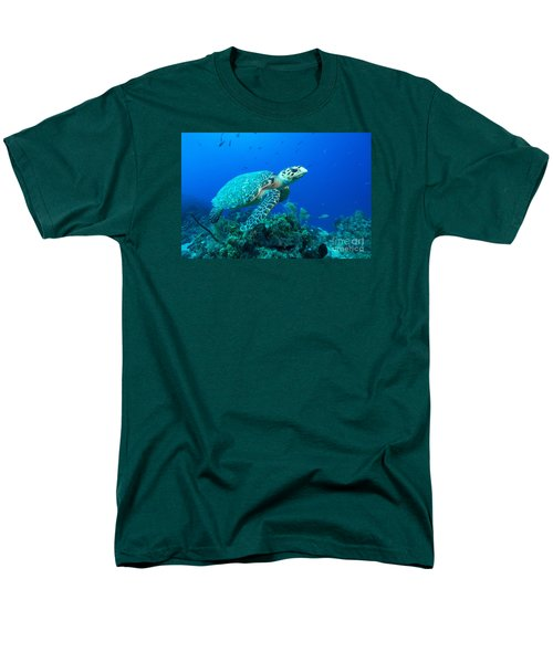 Men's T-Shirt  (Regular Fit) featuring the photograph West Caicos Traveler by Aaron Whittemore