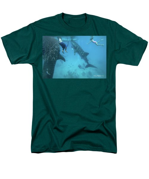 Whale Sharks Men's T-Shirt  (Regular Fit) by Tim Fitzharris