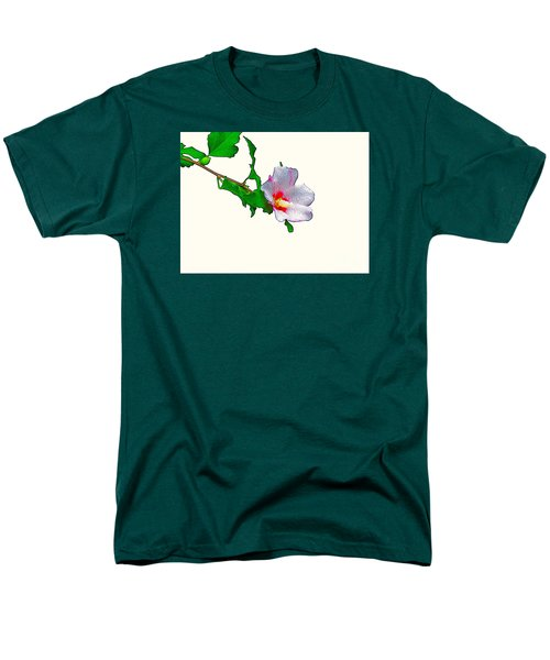 White Flower And Leaves Men's T-Shirt  (Regular Fit) by Craig Walters