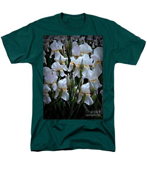 White Iris Garden Men's T-Shirt  (Regular Fit) by Sherry Hallemeier