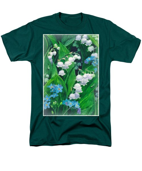 White Lilies Of The Valley Men's T-Shirt  (Regular Fit) by Sergey Lukashin