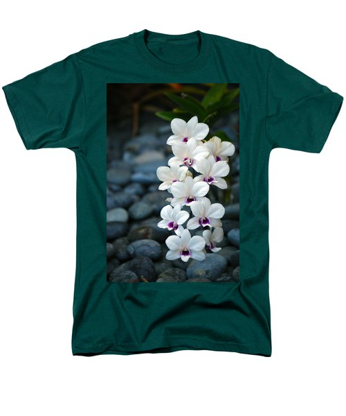 Men's T-Shirt  (Regular Fit) featuring the photograph White Orchids by Debbie Karnes