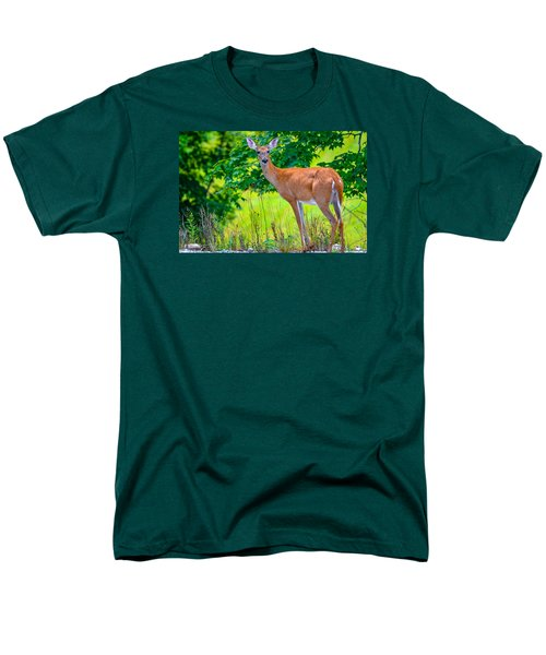 Men's T-Shirt  (Regular Fit) featuring the photograph White-tailed Deer 2 by Brian Stevens