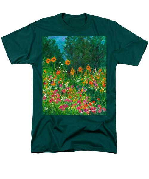 Wildflower Rush Men's T-Shirt  (Regular Fit) by Kendall Kessler