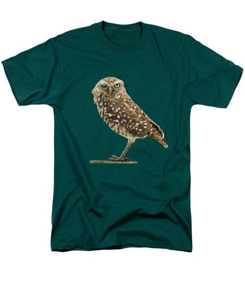 Winking Owl Men's T-Shirt  (Regular Fit) by Bradford Martin