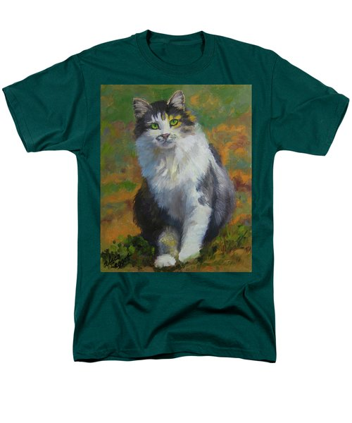 Winston Cat Portrait Men's T-Shirt  (Regular Fit) by Alice Leggett