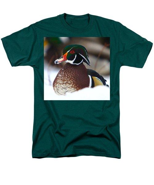 Wood Duck Men's T-Shirt  (Regular Fit) by Robert Pearson