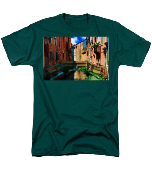 Wooden Bridge Men's T-Shirt  (Regular Fit) by Harry Spitz