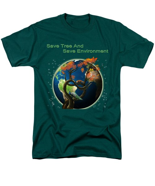 World Needs Tree Men's T-Shirt  (Regular Fit) by Artist Nandika  Dutt