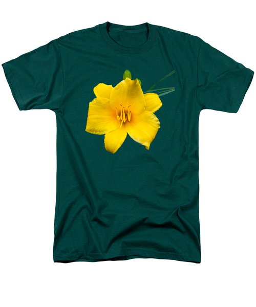 Yellow Daylily Flower Men's T-Shirt  (Regular Fit) by Christina Rollo