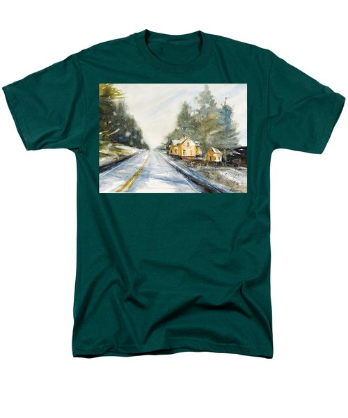 Yellow House On The Right Men's T-Shirt  (Regular Fit) by Judith Levins