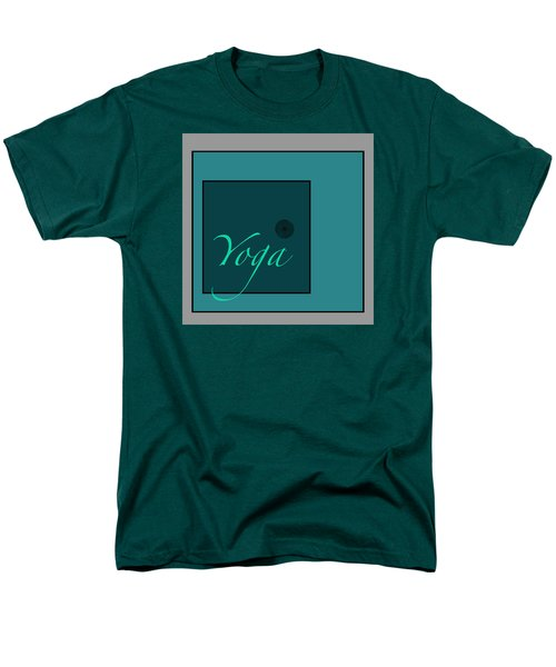 Men's T-Shirt  (Regular Fit) featuring the digital art Yoga In Blue by Kandy Hurley