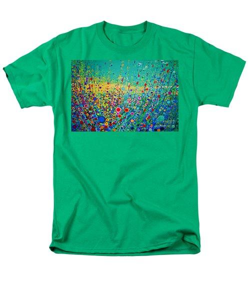 Colorful Flowerscape Men's T-Shirt  (Regular Fit)