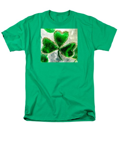 A Shamrock On Ice Men's T-Shirt  (Regular Fit) by Angela Davies