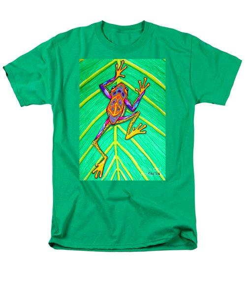 Peace Frog Men's T-Shirt  (Regular Fit) by Nick Gustafson