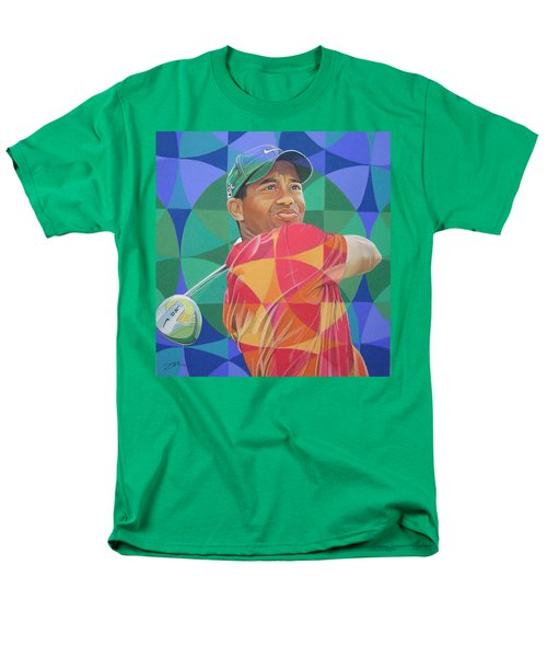 Men's T-Shirt  (Regular Fit) featuring the drawing Tiger Woods by Joshua Morton